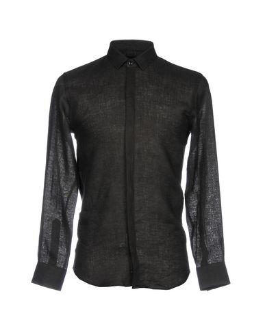 Emporio Armani Linen Shirt In Black