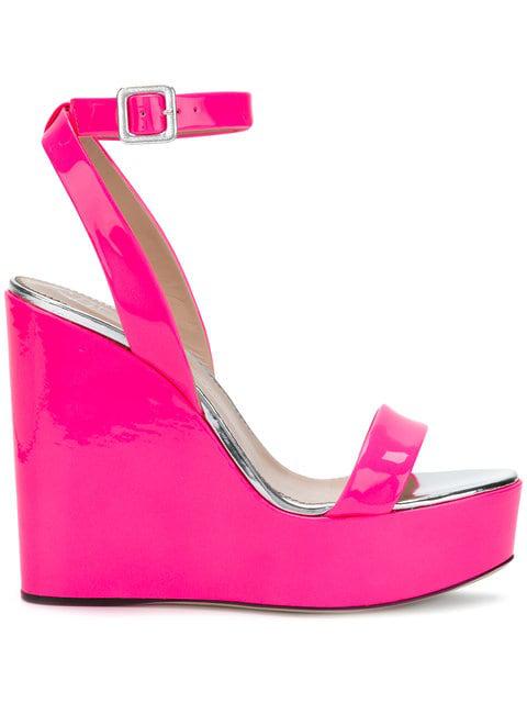 Giuseppe Zanotti Gipsy Alien Wedge Sandals In Pink