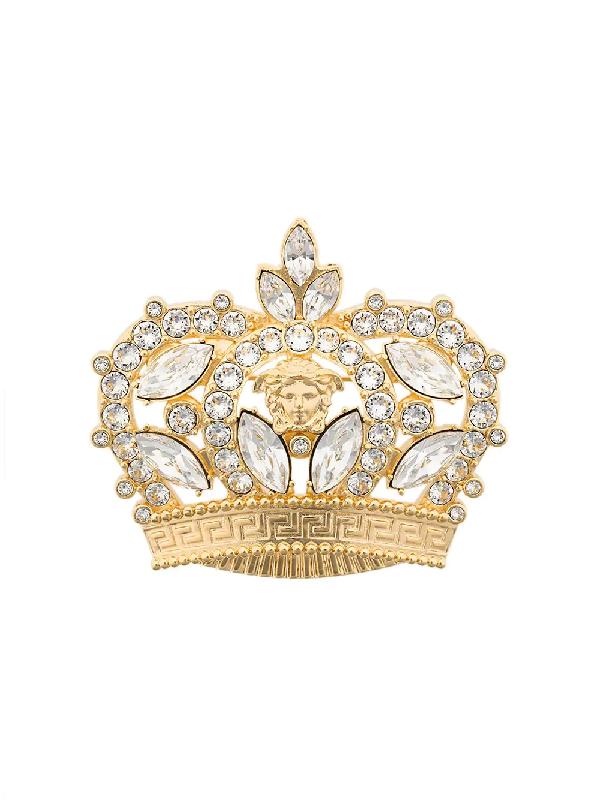 Versace Crown Brooch