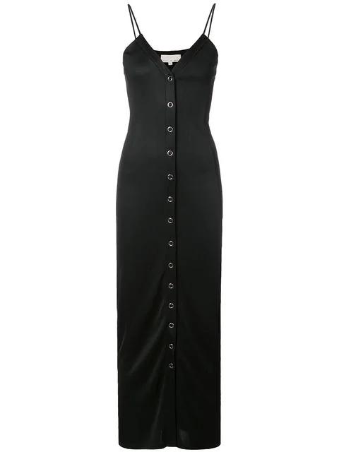 Fleur Du Mal Snap Front Long Dress
