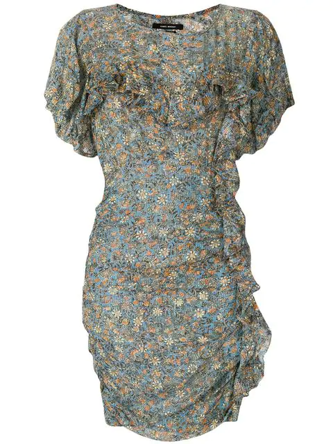 Isabel Marant Fitted Floral Dress In Multicolour