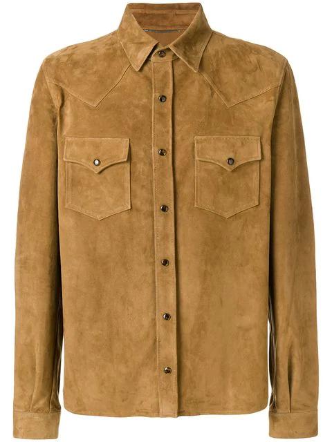 Saint Laurent Double Pocket Shirt - Brown