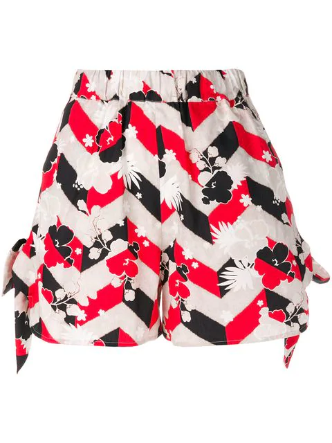 Maison KitsunÉ Blossom Print Shorts