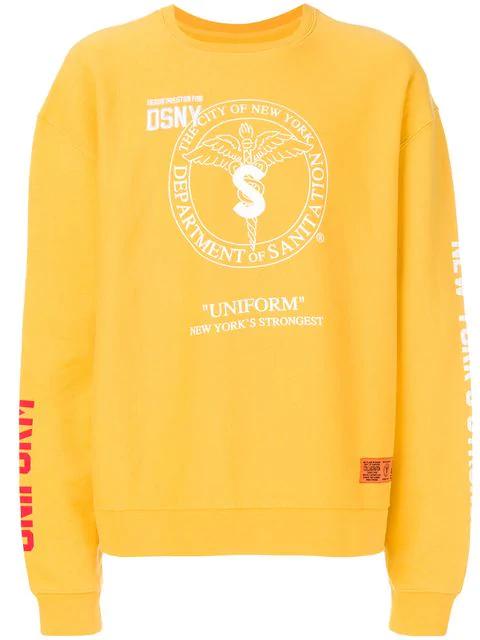 Heron Preston Logo Print Sweatshirt - Yellow