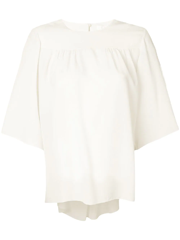 ChloÉ Loose Sleeve Blouse In White