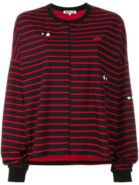 Mcq By Alexander Mcqueen Swallow Striped T-shirt