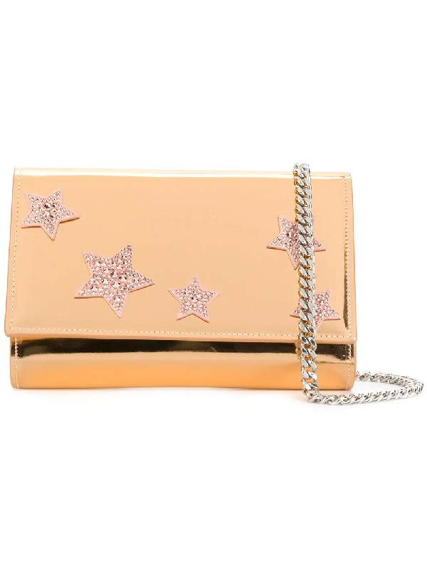Giuseppe Zanotti Design Star Embellished Clutch - Metallic