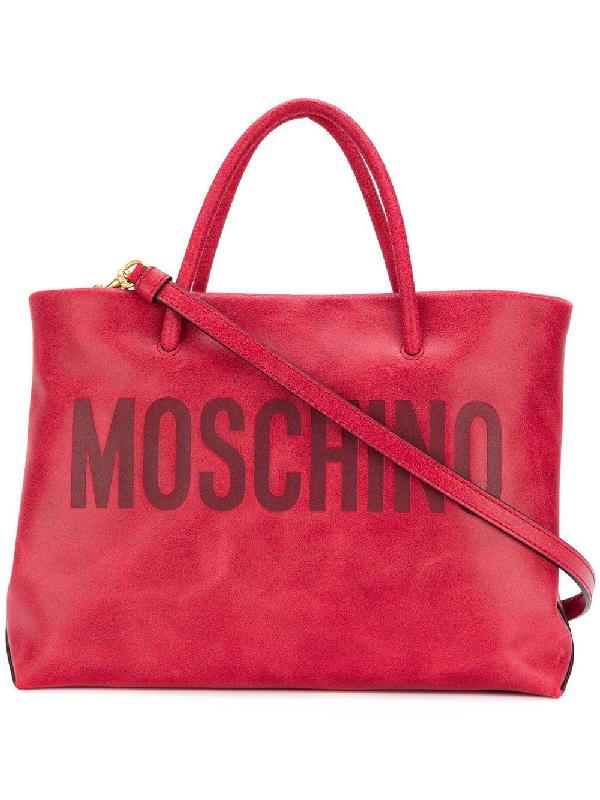 Moschino Embossed Logo Tote Bag