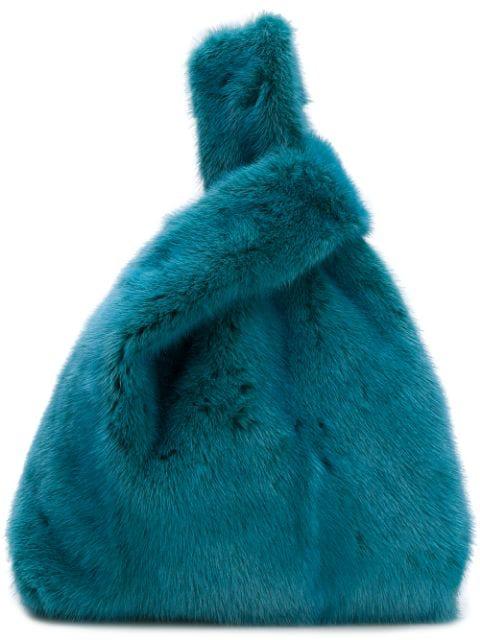 Simonetta Ravizza Furrissima Tote In Blue