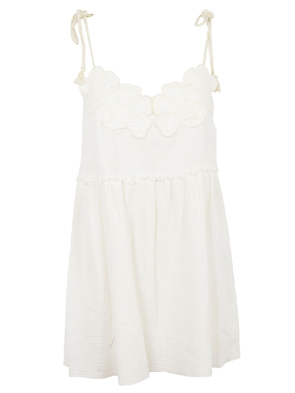 See By ChloÉ See By Chloe Short Dress In White Powder Nr109