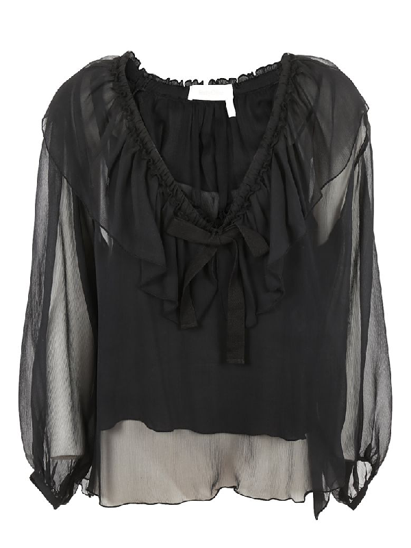 See By ChloÉ See By Chloe Lace Top In Black