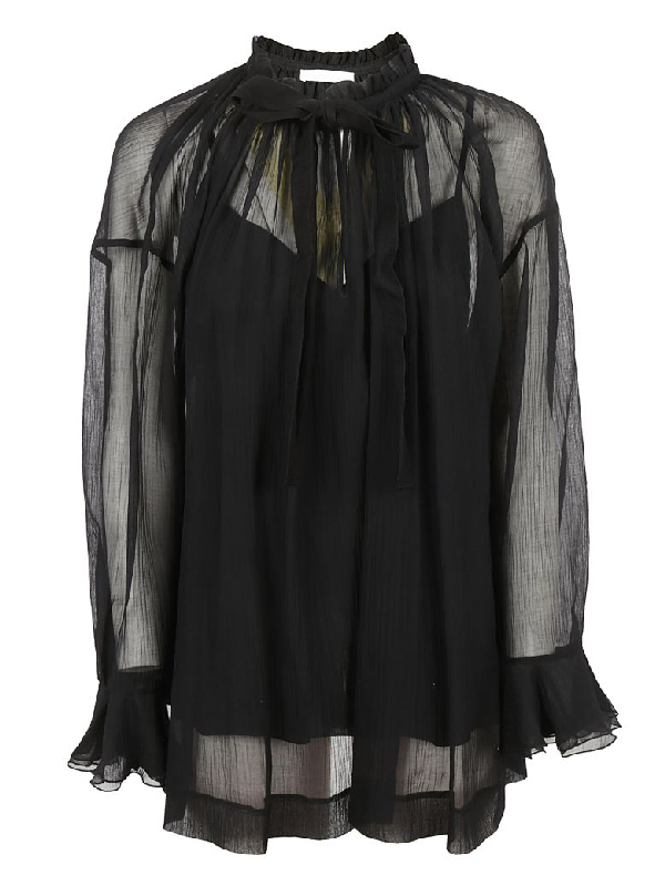 See By ChloÉ See By Chloe Lace Top In Black Nr001