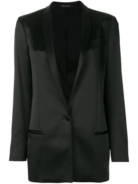 Tagliatore Revers Blazer - Black