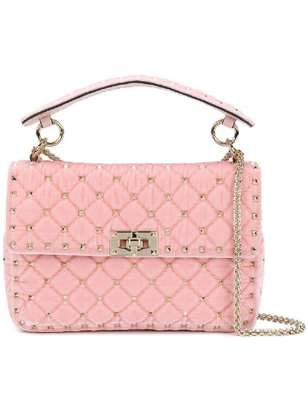 367f862c67a Valentino Garavani Rockstud Spike Chain Bag - Pink In Pink & Purple ...