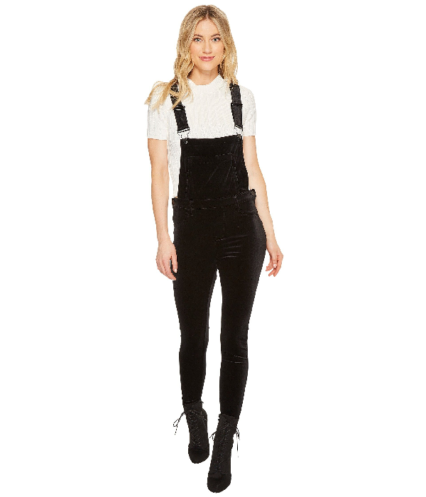 Blanknyc Velvet Overalls In The New Black, The New Black