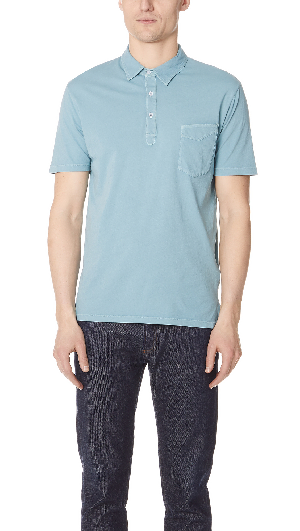 Officine Generale Bd Polo In Island Blue