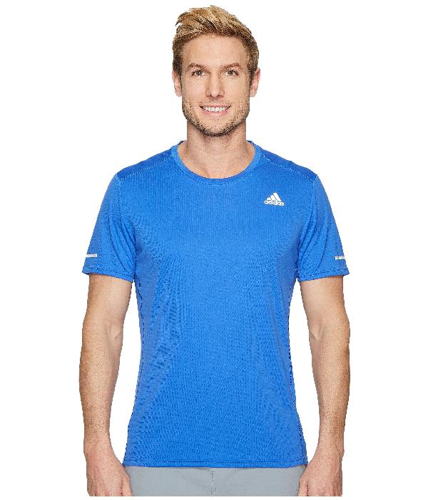 Adidas Originals Run Tee In Hi-res Blue