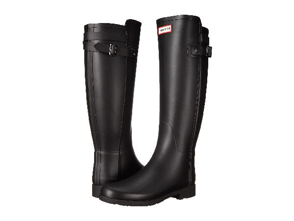 Hunter Original Refined Back Strap Rain Boots, Black
