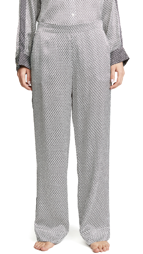 Asceno Pyjama Bottoms In Monochrome Geo