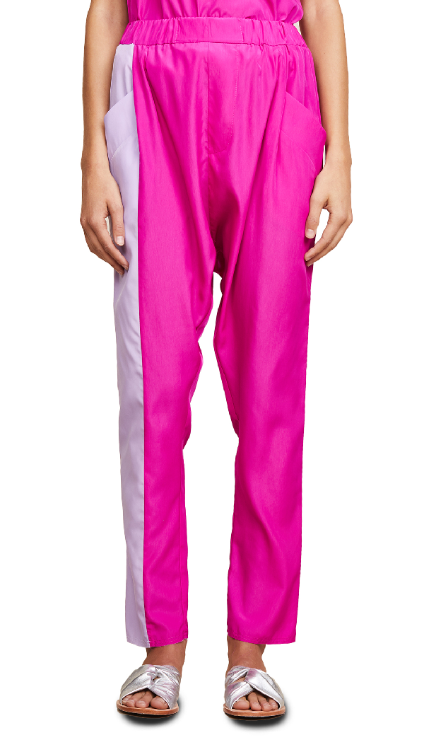Baja East Harem Pants In Fuchsia/lilac