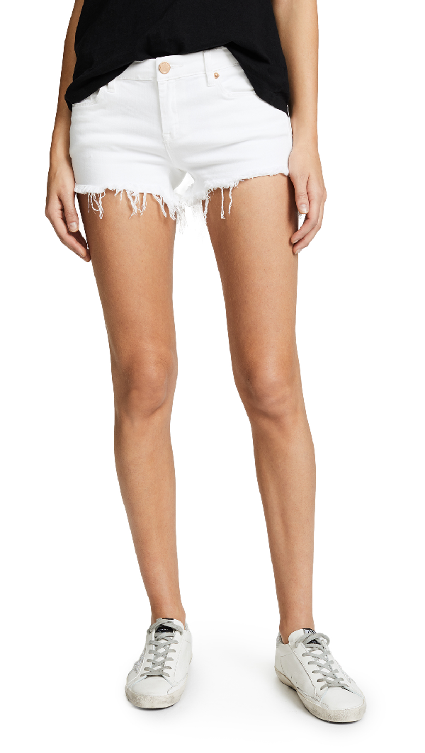 Blank Denim Cutoff Shorts In The Great White