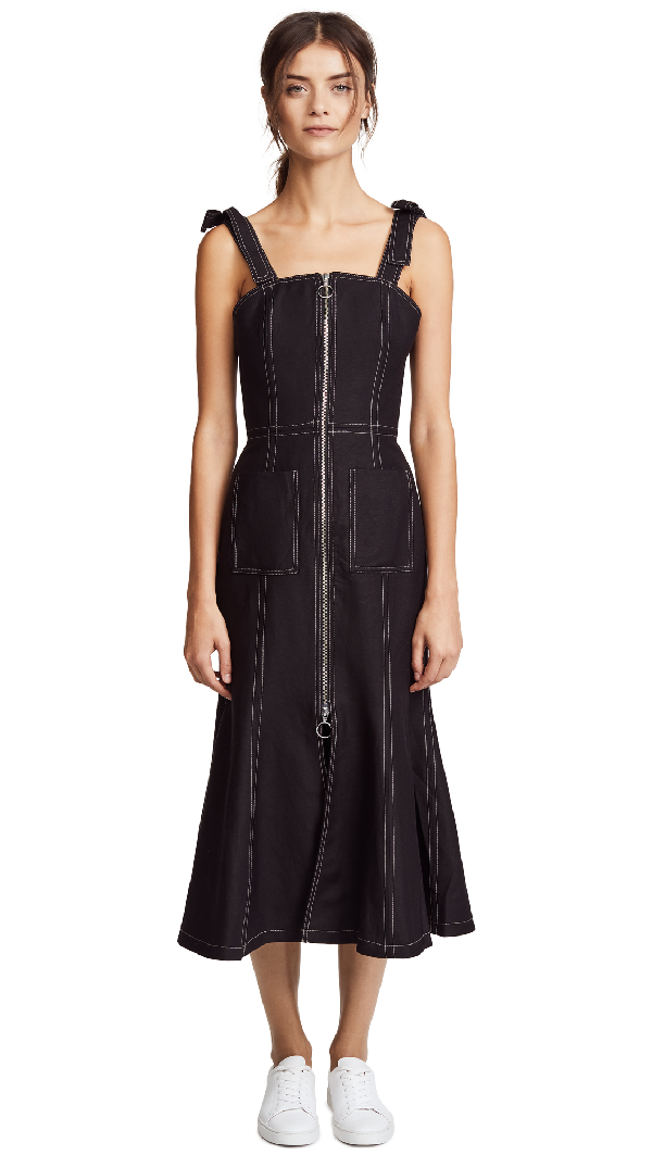 C/meo Collective Get Right Midi Dress In Black