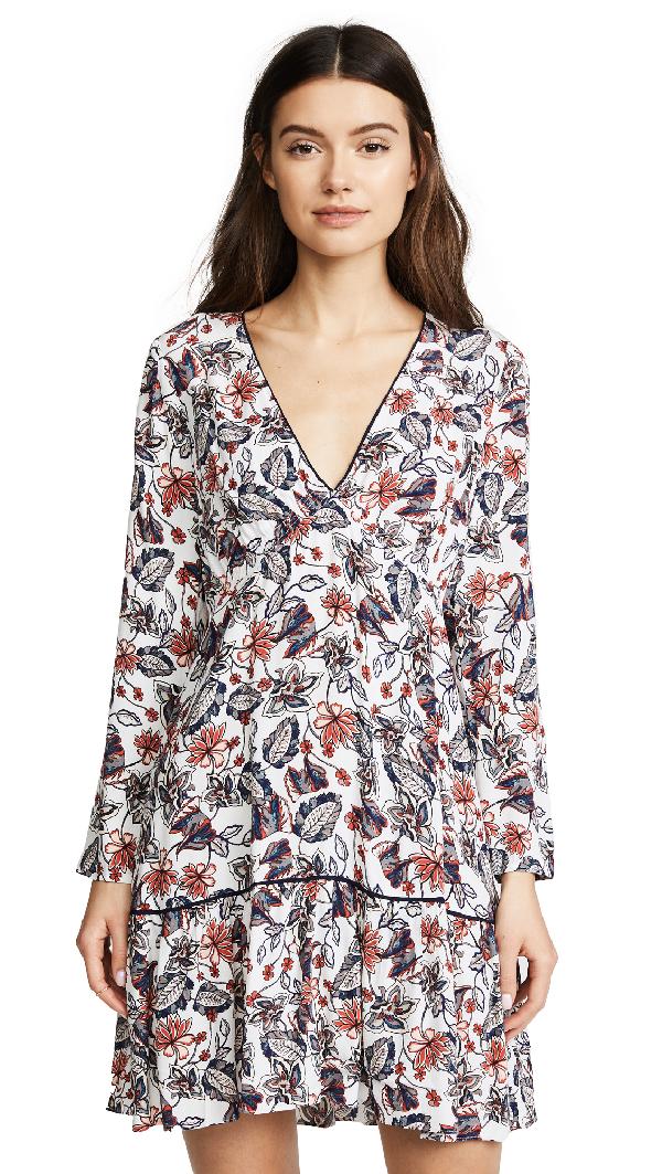 Ella Moss Melody Floral Dress In Natural Print