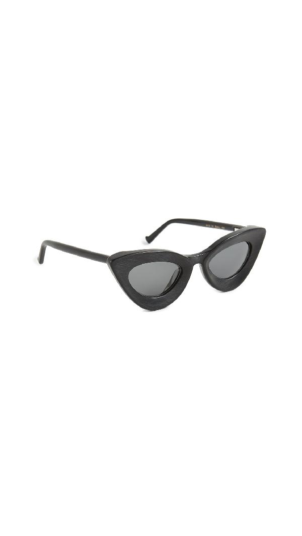 Grey Ant Iemall Cat Eye Sunglasses In Black/Grey