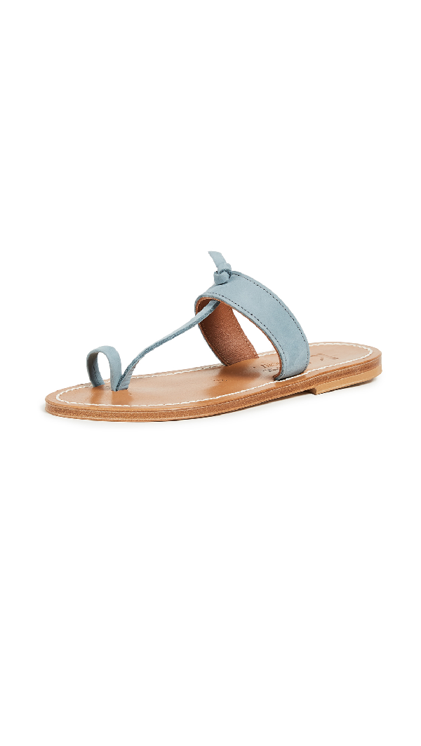 K.jacques Ganges Toe Ring Sandals In Nubuck Jeans