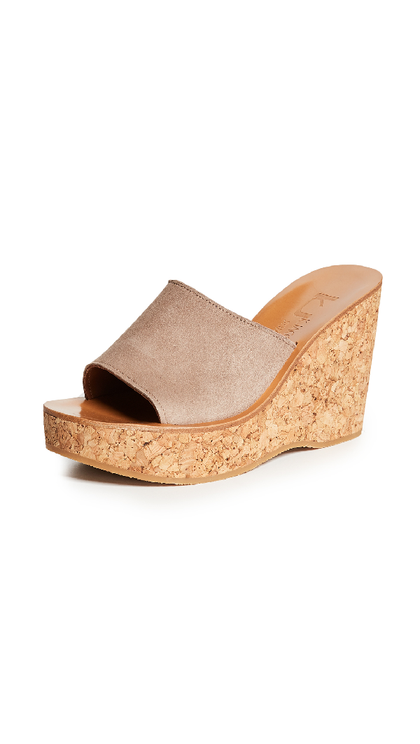 K.jacques Timor Wedge Sandals In Velours Luxor