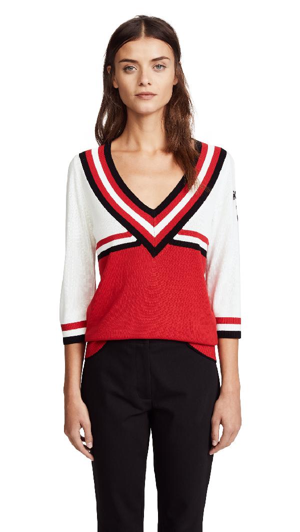 Scotch & Soda/maison Scotch Varsity Sweater In Multi