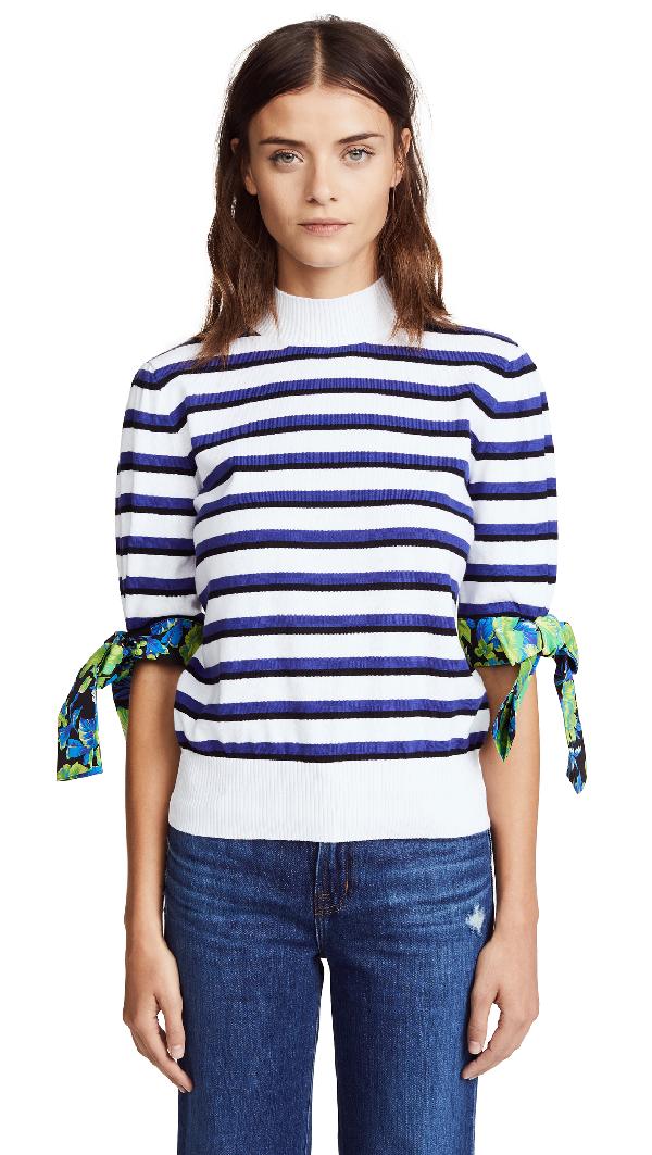 Msgm Knit Stripe Sweater In Multi