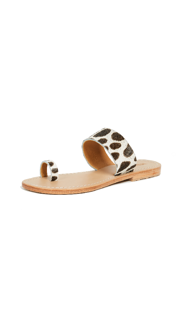 Mystique Toe Ring Sandals In Cheetah
