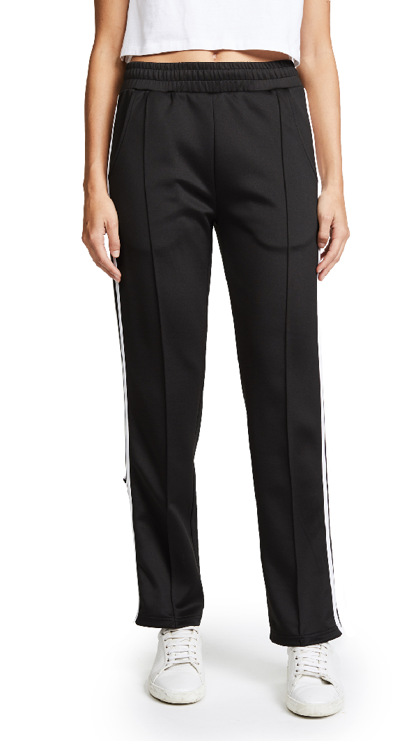 Phat Buddha Barclay's Track Pants In Caviar/bright White