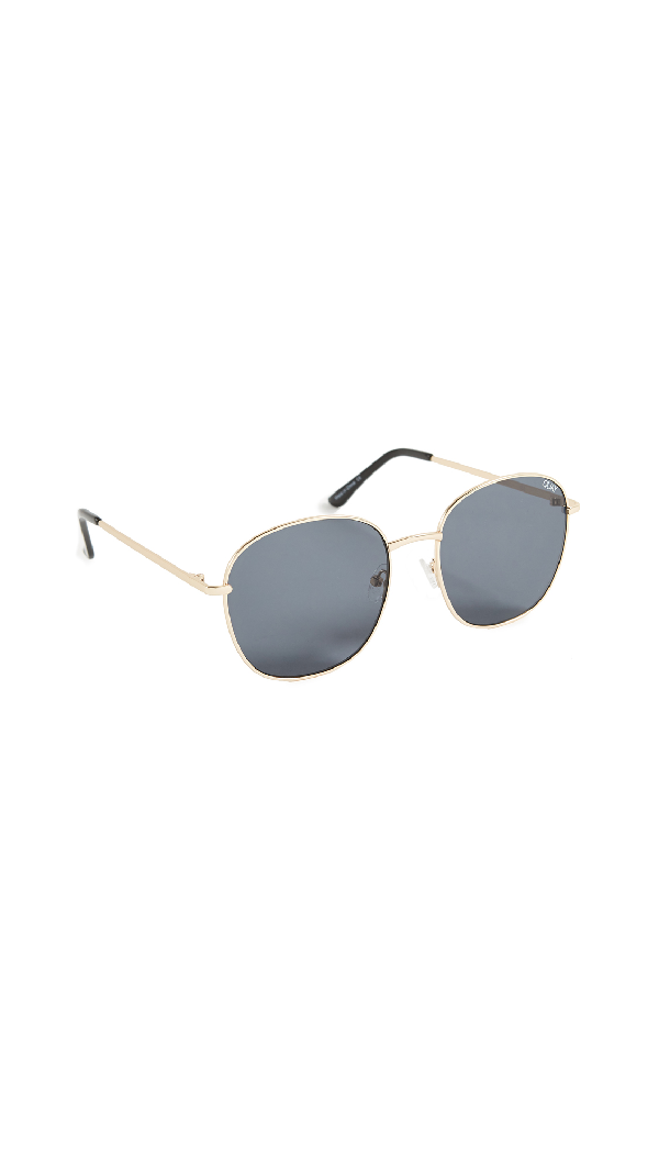 Quay Jezabell Sunglasses In Gold/smoke