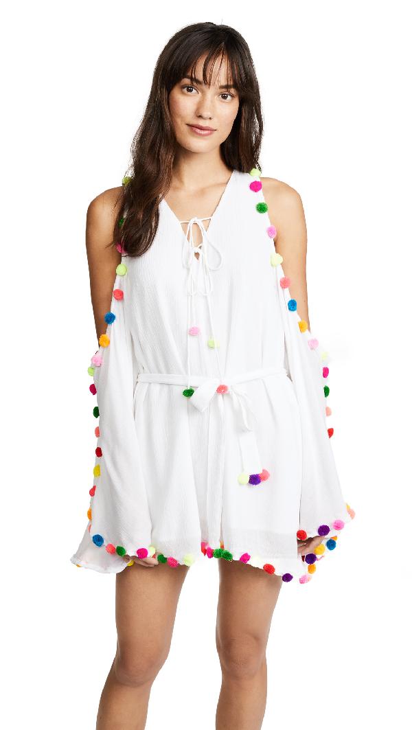 Sundress Olga Dress In White/multi Colors