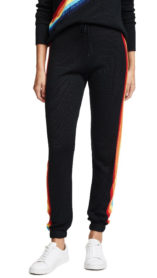 Spiritual Gangster X Madeleine Thompson Rainbow Bebe Pants In Black