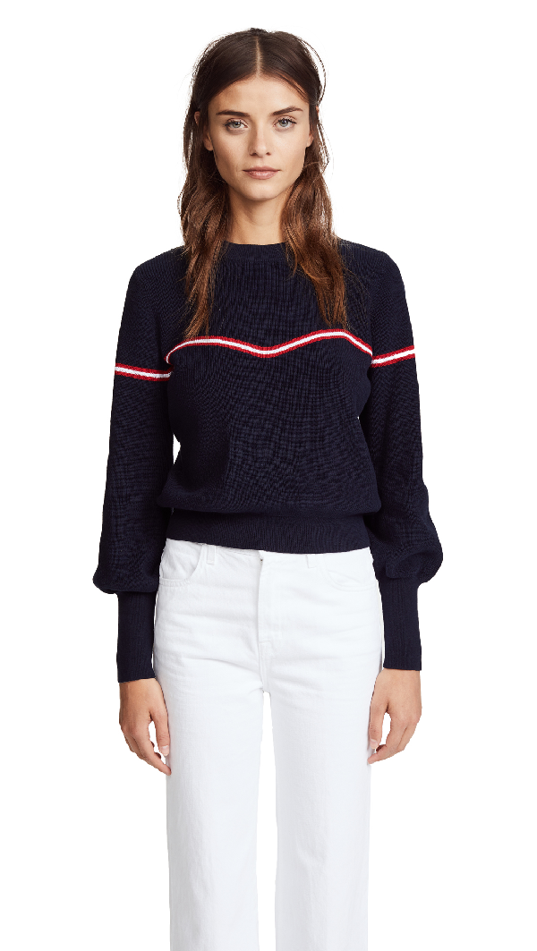 The Fifth Label Accent Sweater In Navy