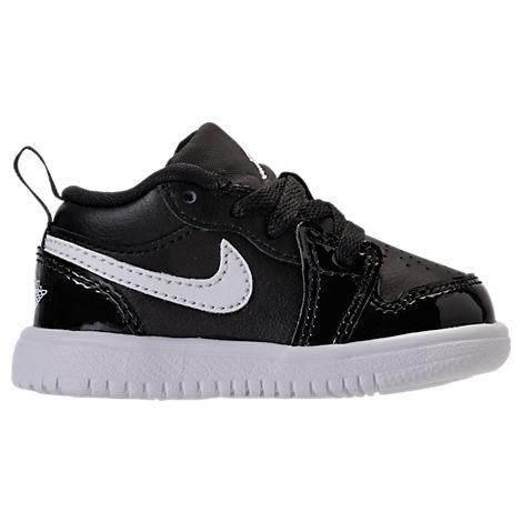 Nike Boys' Toddler Air Jordan Retro 1 Low Basketball Shoes, Black