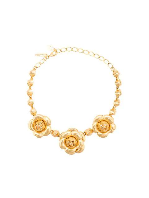 Oscar De La Renta Gardenia Necklace - Metallic