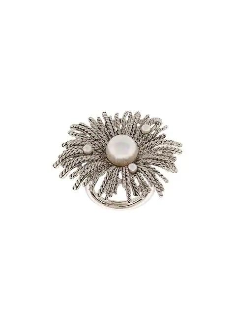 Oscar De La Renta Pearl Burst Ring
