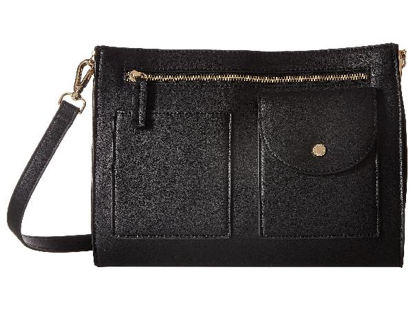 Steve Madden Pocket Crossbody In Black