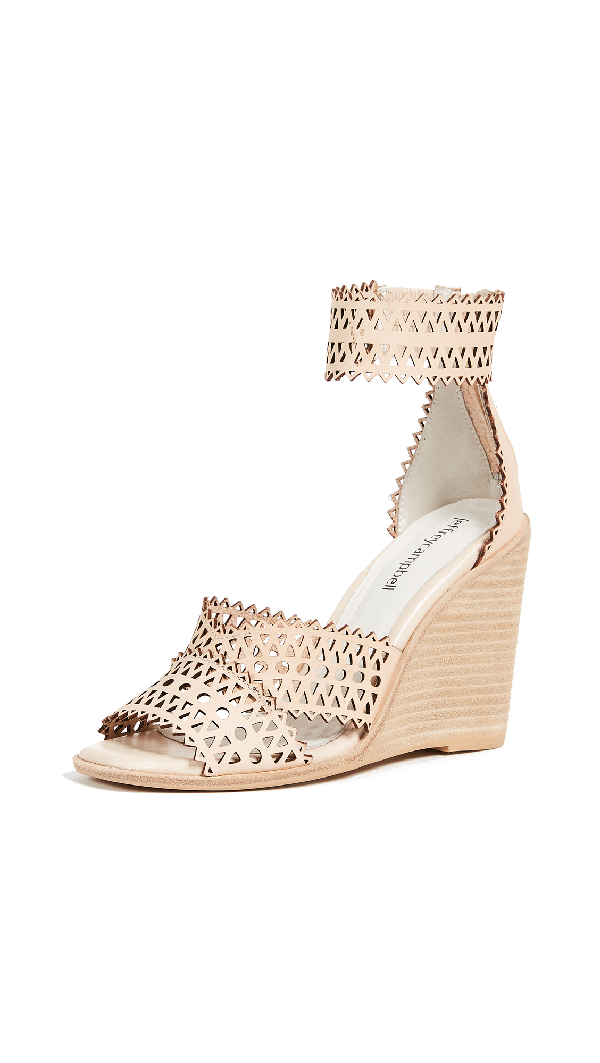 Jeffrey Campbell Besante Woven Wedges In Natural