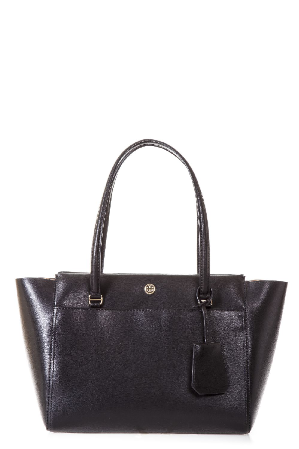 Tory Burch Parker Small Leather Bag In Black-cardamom