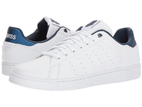 K-swiss Clean Court Cmf In White/insignia Blue