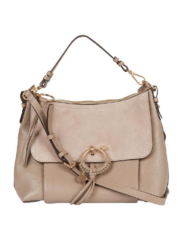 See By ChloÉ See By Chloe Contrast Joan Shoulder Bag In Tortora