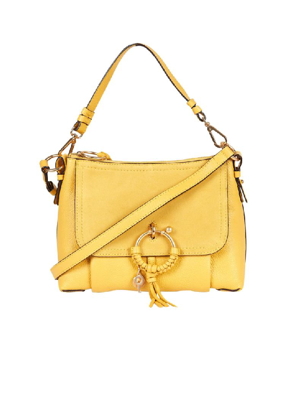 See By ChloÉ Panel Tassel Shoulder Bag In Giallo