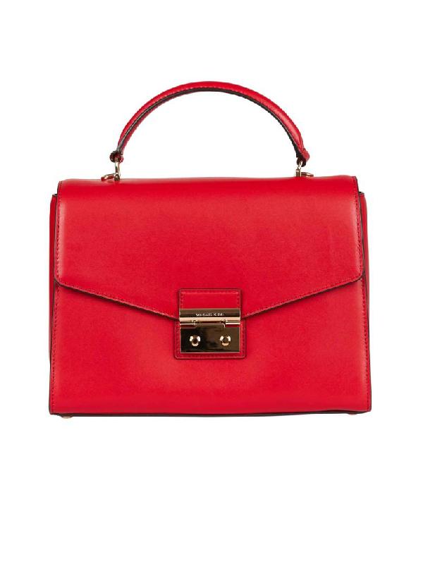 Michael Michael Kors Sloan Shoulder Bag In Rosso