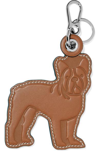 Loewe Embossed Leather Keychain