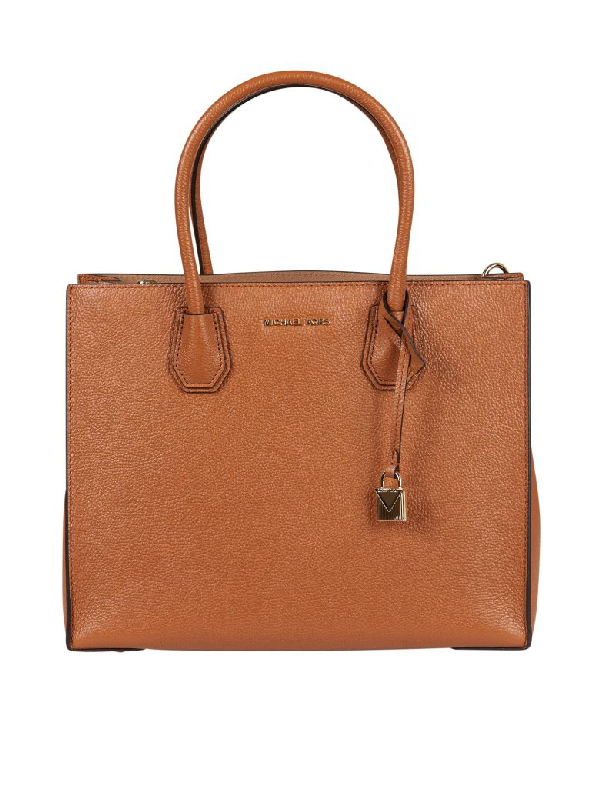 Michael Michael Kors Large Mercer Tote In Cuoio
